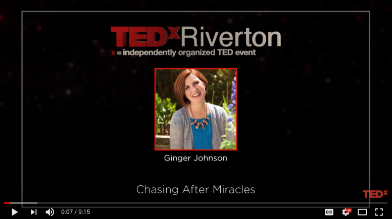 Ginger Johnson TEDx Miracles